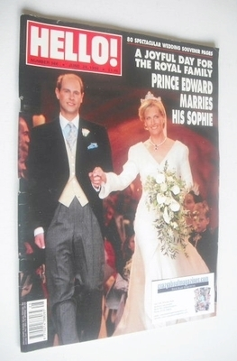 <!--1999-06-29-->Hello! magazine - Prince Edwards and Sophie Rhys-Jones wed
