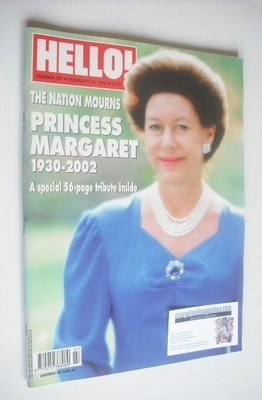 <!--2002-02-19-->Hello! magazine - Princess Margaret cover (19 February 200