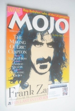 <!--1994-03-->MOJO magazine - Frank Zappa cover (March 1994 - Issue 4)