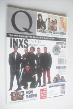 Q magazine - INXS cover (January 1991)