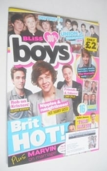 Bliss 100% Boys magazine - Autumn 2012 - Brit Hot cover