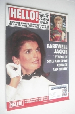 <!--1994-05-28-->Hello! magazine - Jackie Kennedy Onassis cover (28 May 199