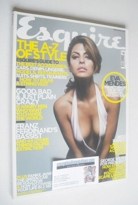 <!--2005-03-->Esquire magazine - Eva Mendes & Willem Dafoe cover (March 200