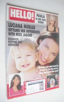 <!--2000-10-03-->Hello! magazine - Luciana Morad cover (3 October 2000 - Is