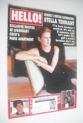 <!--1997-02-08-->Hello! magazine - Stella Tennant cover (8 February 1997 -