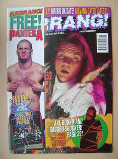 <!--1994-03-19-->Kerrang magazine - Meat Loaf cover (19 March 1994 - Issue