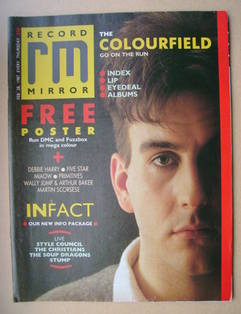 <!--1987-03-28-->Record Mirror magazine - Terry Hall cover (28 February 198
