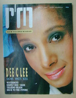 <!--1985-12-07-->Record Mirror magazine - Dee C Lee cover (7 December 1985)