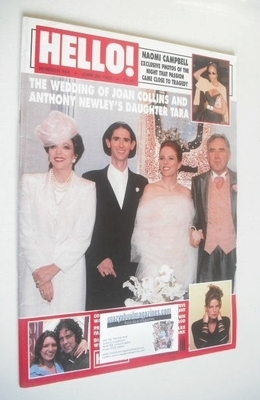 <!--1997-06-28-->Hello! magazine - Tara Newley wedding cover (28 June 1997