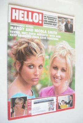 <!--1997-07-05-->Hello! magazine - Mandy Smith and Nicola Smith cover (5 Ju
