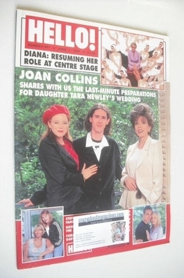 <!--1997-06-07-->Hello! magazine - Tara Newley and Joan Collins cover (7 Ju