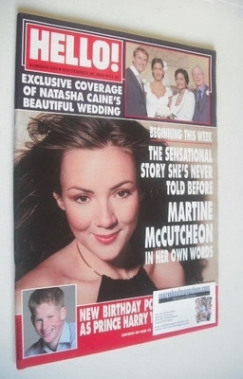 <!--2000-09-26-->Hello! magazine - Martine McCutcheon cover (26 September 2
