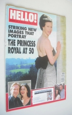 <!--2000-08-22-->Hello! magazine - Princess Anne cover (22 August 2000 - Is