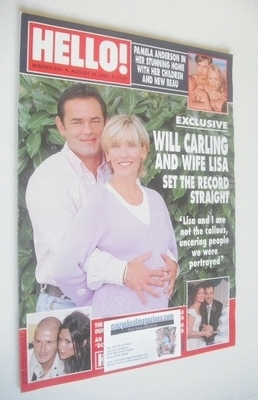<!--2000-08-29-->Hello! magazine - Will Carling and wife Lisa cover (29 Aug