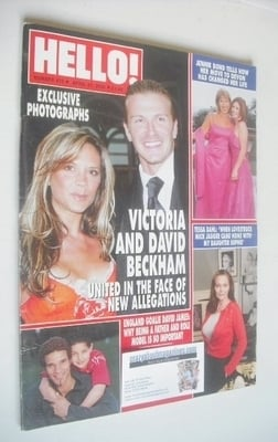 <!--2004-04-27-->Hello! magazine - David Beckham and Victoria Beckham cover