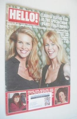 <!--1995-02-04-->Hello! magazine - Claudia Schiffer and Elle Macpherson cov