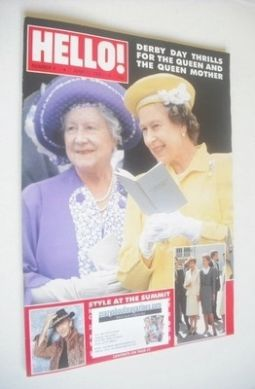 <!--1988-06-11-->Hello! magazine - Queen Elizabeth II and Queen Mother cove