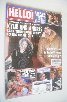 <!--2009-01-20-->Hello! magazine - Kylie Minogue and Andre Velencoso cover