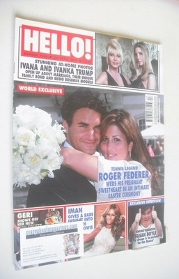 <!--2009-04-28-->Hello! magazine - Roger Federer wedding cover (28 April 20