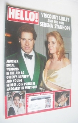 <!--1993-02-20-->Hello! magazine - Viscount Linley and Serena Stanhope cove