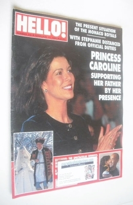 <!--1993-02-13-->Hello! magazine - Princess Caroline cover (13 February 199