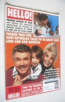 <!--1990-12-29-->Hello! magazine - Burt Reynolds, Loni Anderson and son Quentin cover (29 December 1990 - Issue 133)