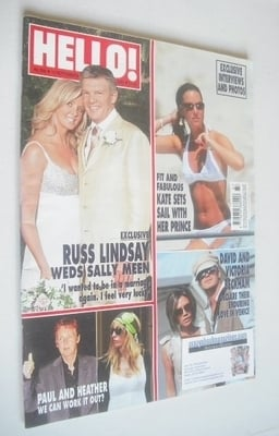 <!--2006-09-19-->Hello! magazine - Russ Lindsay and Sally Meen cover (19 Se