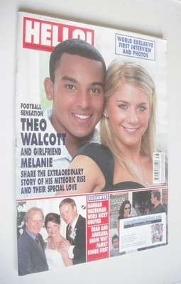 <!--2006-09-26-->Hello! magazine - Theo Walcott and Melanie Slade cover (26