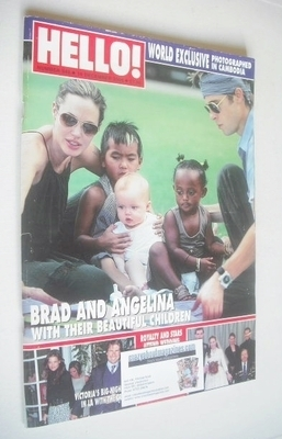<!--2006-12-19-->Hello! magazine - Brad Pitt and Angelina Jolie and family
