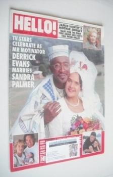 Hello! magazine - Derrick Evans and Sandra Palmer cover (10 August 1996 - Issue 419)