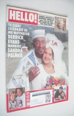 <!--1996-08-10-->Hello! magazine - Derrick Evans and Sandra Palmer cover (1
