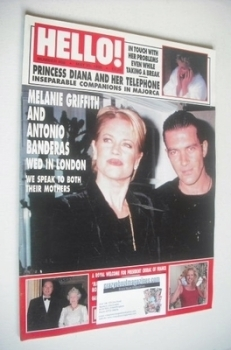 <!--1996-05-25-->Hello! magazine - Melanie Griffith and Antonio Banderas cover (25 May 1996 - Issue 408)