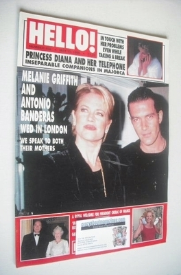 <!--1996-05-25-->Hello! magazine - Melanie Griffith and Antonio Banderas co