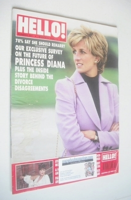 <!--1996-03-09-->Hello! magazine - Princess Diana cover (9 March 1996 - Iss