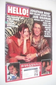 <!--1996-02-10-->Hello! magazine - Jonathan Ross and Jane Goldman cover (10 February 1996 - Issue 393)