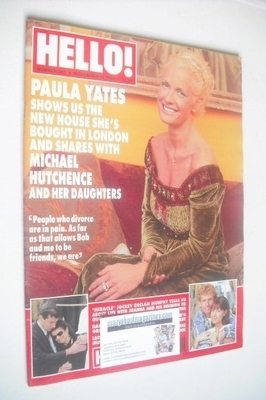 <!--1995-11-18-->Hello! magazine - Paula Yates cover (18 November 1995 - Is