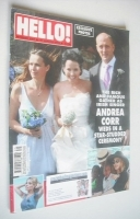 <!--2009-08-31-->Hello! magazine - Andrea Corr wedding cover (31 August 2009 - Issue 1087)