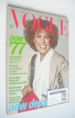 <!--1977-01-->British Vogue magazine - January 1977 (Vintage Issue)