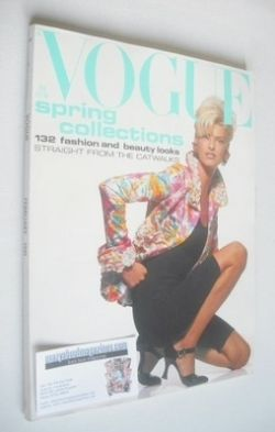 <!--1991-02-->British Vogue magazine - February 1991 - Linda Evangelista co
