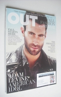 <!--2011-09-->Out magazine - Adam Levine cover (September 2011)
