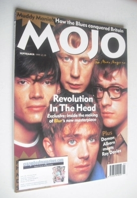 <!--1995-09-->MOJO magazine - Blur cover (September 1995 - Issue 22)