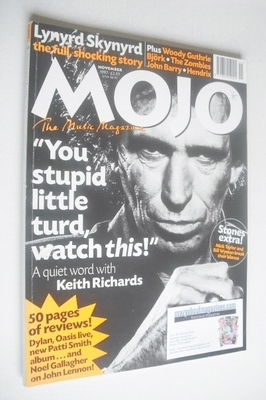 <!--1997-11-->Mojo magazine - Keith Richards cover (November 1997 - Issue 4