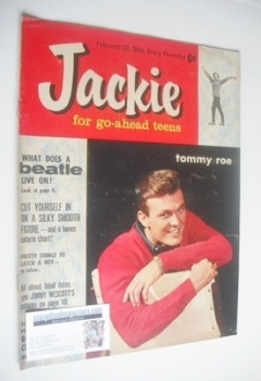 Jackie magazine - 22 February 1964 (Issue 7 - Tommy Roe cover)
