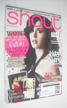 Shout magazine - Katy Perry cover (3 January 2012)