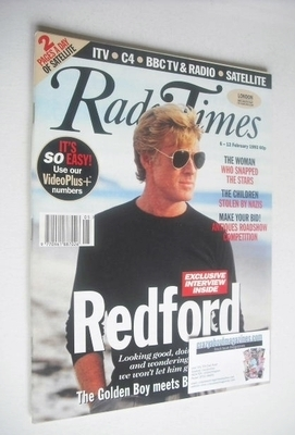 <!--1993-02-06-->Radio Times magazine - Robert Redford cover (6-12 February