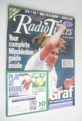 <!--1993-06-19-->Radio Times magazine - Steffi Graf cover (19-25 June 1993)