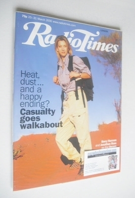 <!--2000-03-25-->Radio Times magazine - Claire Goose cover (25-31 March 200