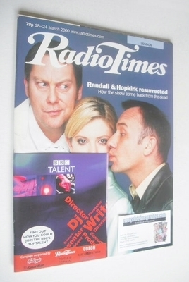 <!--2000-03-18-->Radio Times magazine - Vic Reeves, Emilia Fox, Bob Mortime