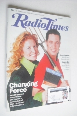 <!--2000-02-12-->Radio Times magazine - Laurence Llewelyn-Bowen and Charlie