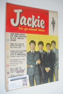 <!--1964-02-08-->Jackie magazine - 8 February 1964 (Issue 5 - The Beatles c